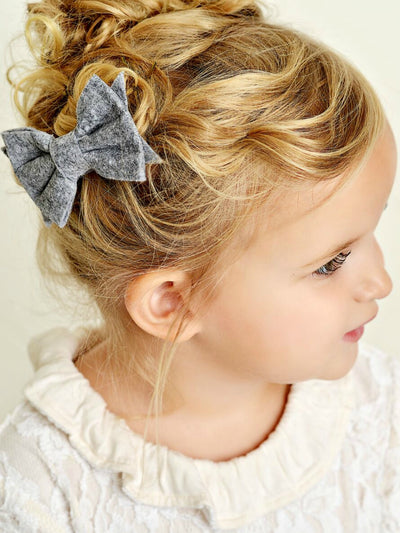 Olivia Felt Hair Bow Clip-14 Colors!