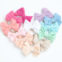 Lisa Pinwheel  Bow Nylon Headbands 25 Colors