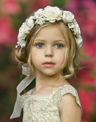 Beatrice Flower Girl Crown