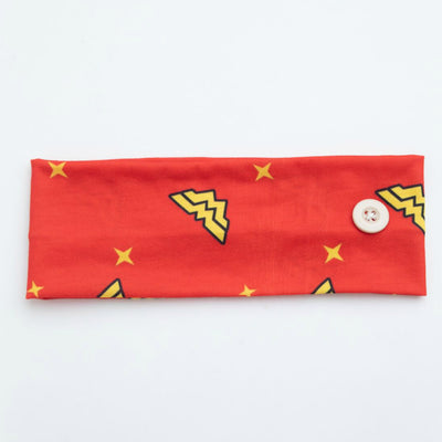 Mask Holder Headband Wonder Woman Print 10