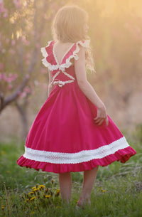 Matilda Dress - Raspberry