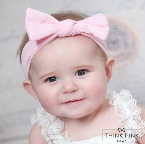 Piper Style Bow Headwrap - 18 colors available - Think Pink Bows - 1