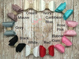 Filled with Charm Double Bow Clippie - 10 colors available - Think Pink Bows - 5