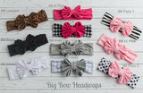 Striped Big Bow Headwraps - Think Pink Bows - 7