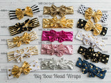 Striped Big Bow Headwraps - Think Pink Bows - 9