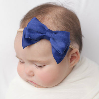 Leila Chiffon Hair Bow Headband 3.5