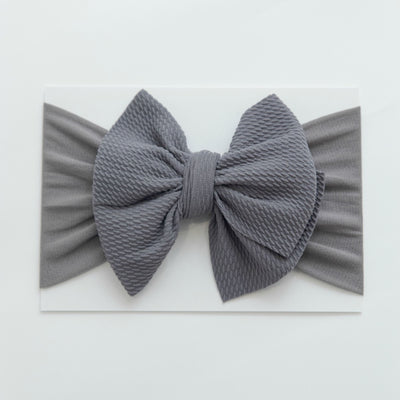 Lola Nylon Headwraps NATURAL GREY 16