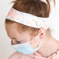 Mask Holder Headband FLORAL Print 3