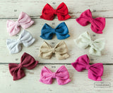 Vivian Style Boutique Bow Clippie - 10 colors available - Think Pink Bows - 1
