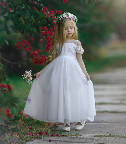 Irina Flower Girl Off White Dress