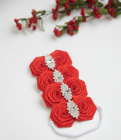 Delphine Nylon Headband RED