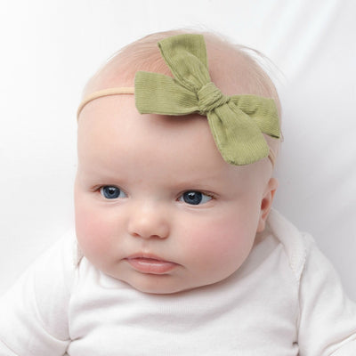 Hand Tied Corduroy Bow Headbands 24 Colors