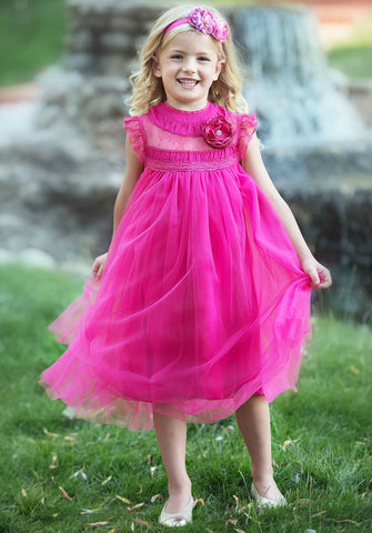 Adrianna Dress - Pink Yarrow