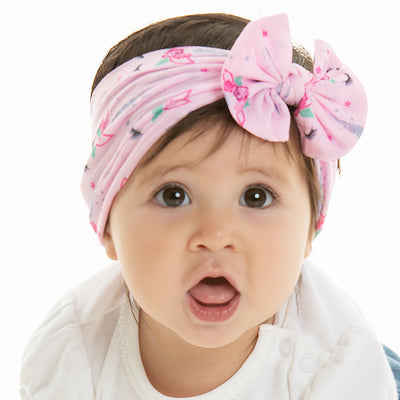 Unicorn Print Knot Nylon Headwraps