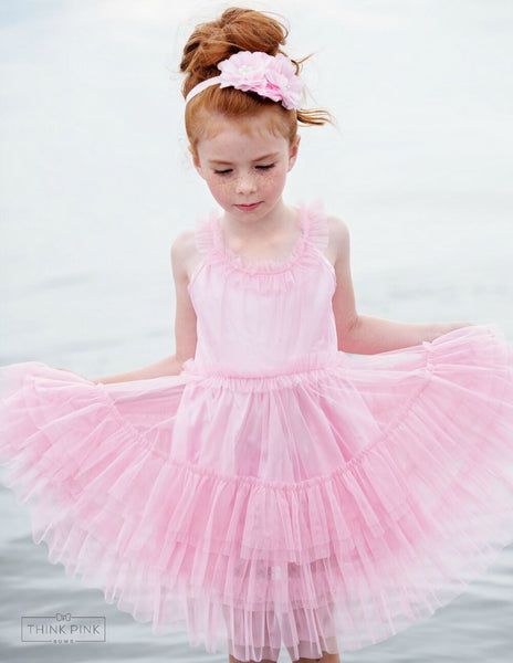 Pretty in Pink Tulle Dress - Think Pink Bows - 1