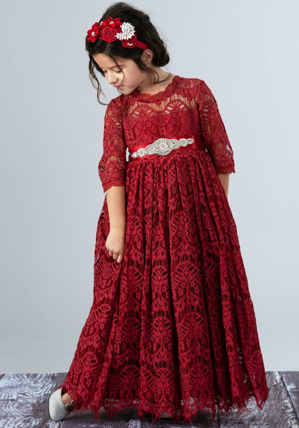 Josephine Long Burgundy Dress