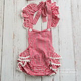 Picnic Fun Baby Girl Romper - Think Pink Bows - 3