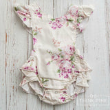 Tea Party Baby Girl Romper - Think Pink Bows - 3