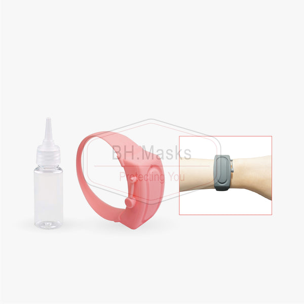 Adults Elastic Pink Hand Sanitizer Bracelet