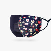 Adults Reversible - Navy Flowers & Navy
