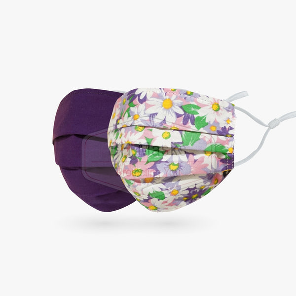 Adults Reversible - Flowers & Purple