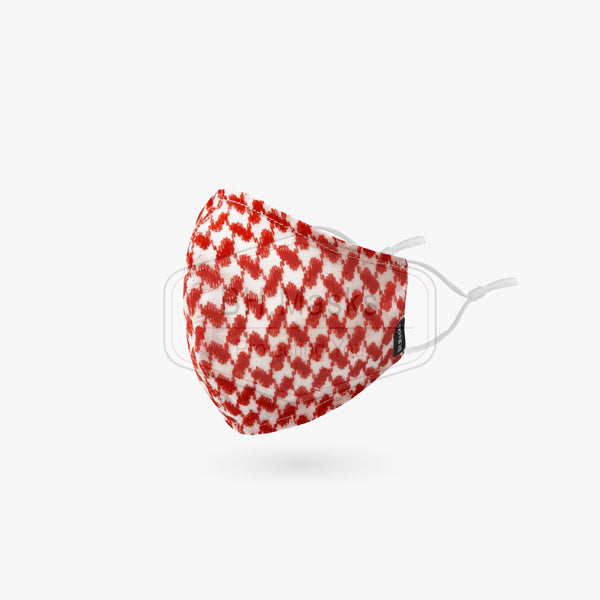 Adults Solid Red & White Shemagh in Sports Cut