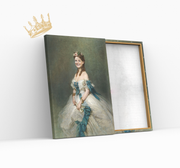 Product Royales Portrait - Pictured is a princess with a dress