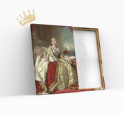 Product Royales Portrait - The picture shows a queen in a pompous robe