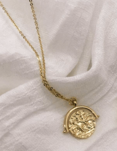 14K Gold Filled Goddess Medallion Necklace