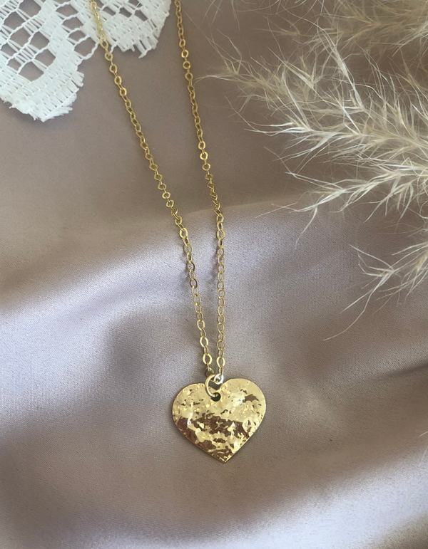 18K Gold Plated Golden Heart Necklace