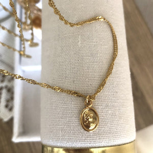 24K Gold Plated Woman of Faith Rope Necklace
