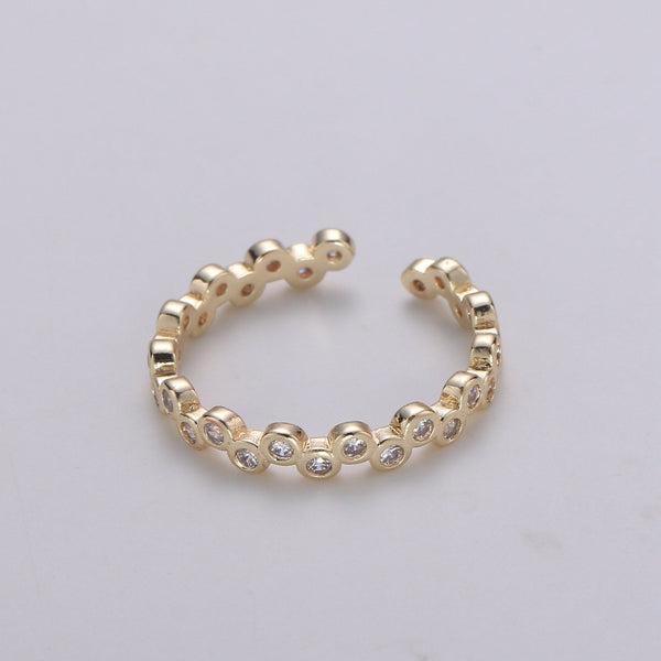 Nat CZ Beaded Ring