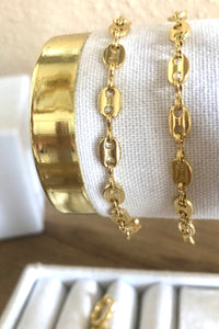 14K Gold Filled Puffed Mariner Bracelet