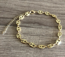 Load image into Gallery viewer, 14K Gold Filled Puffed Mariner Bracelet
