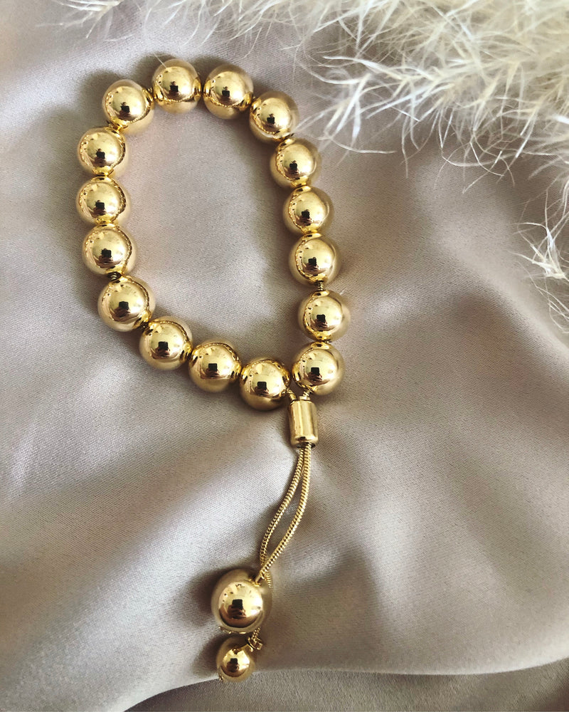 18K Gold Filled Ornament Ball Bracelet