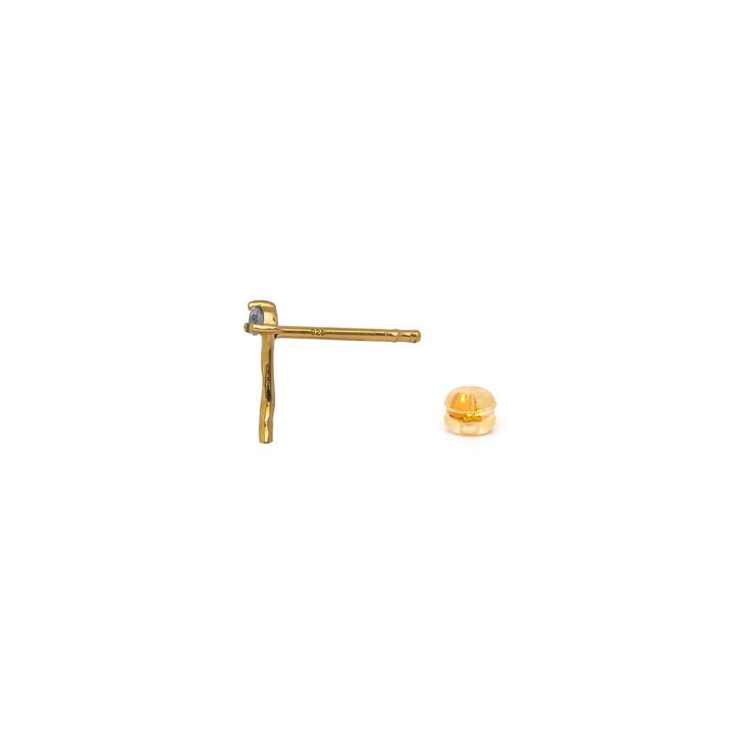 "Single Diamond Stick ""Tage"" Ear Studs"