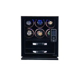 Load image into Gallery viewer, 6-slot Watch Winder & 2 Storage Drawers with Fingerprint RFID Lock System