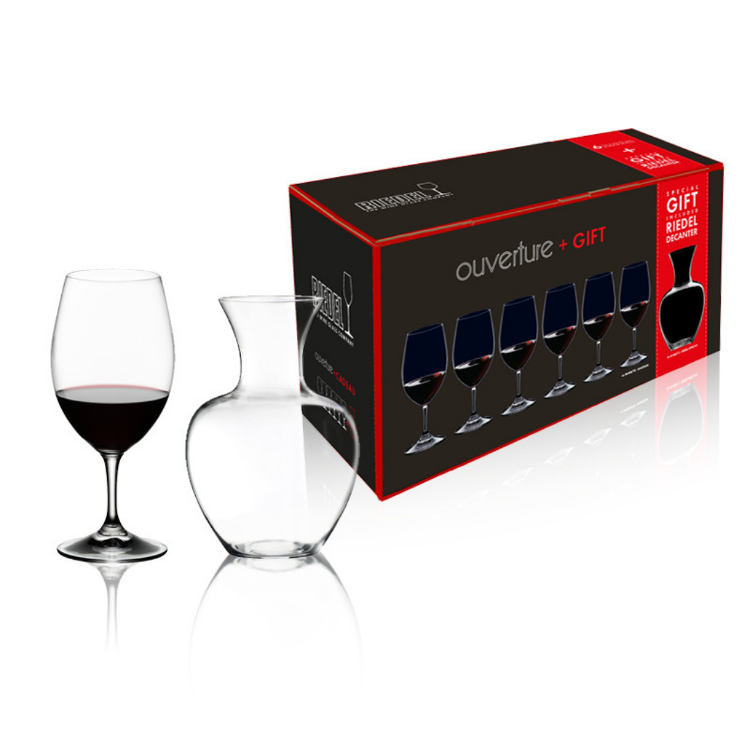 "Riedel ""Ouverture"" Gift Set (Set of 7) : Magnum Glass & Decanter"