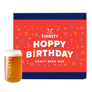 Thirsty 'Hoppy Birthday' Craft Beer Gift Box