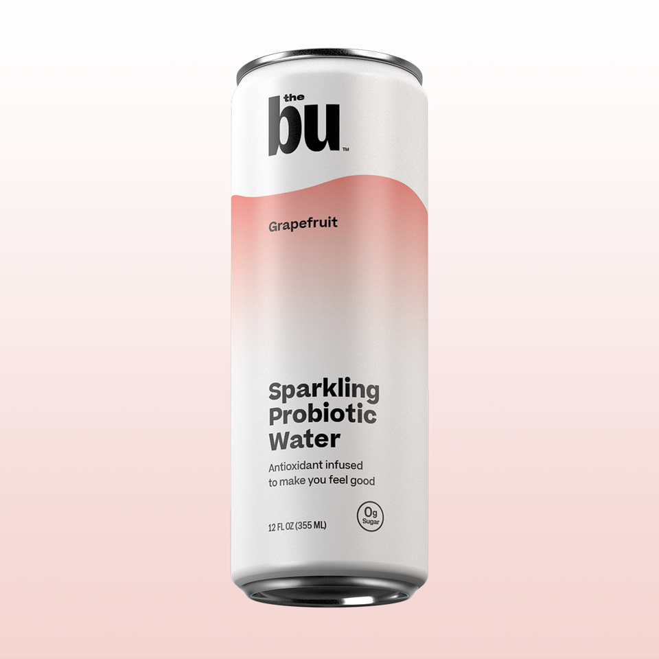 The Bu Grapefruit Sparkling Probiotic Water 12 Pack