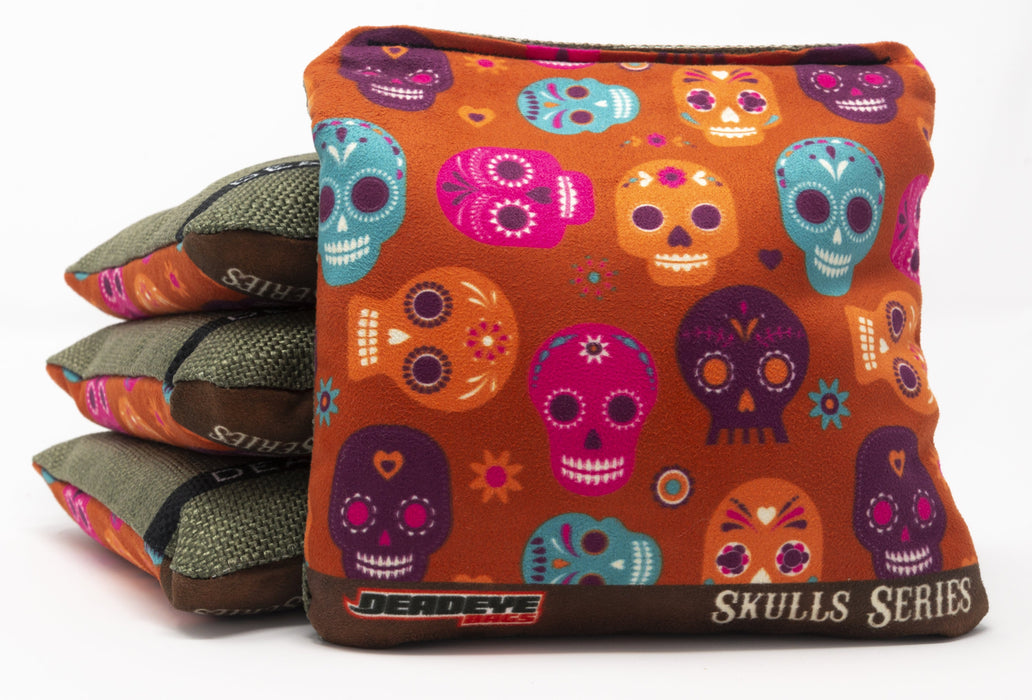 Decorative Skulls - Orange