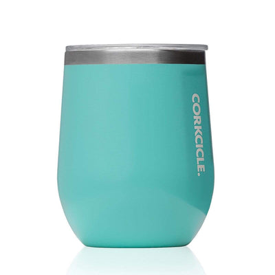Stemless 355ml Insulated Stainless Steel Cup - Turquoise - Laguna Lifestyle