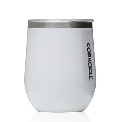 Classic Stemless 355ml - White Insulated Stainless Steel Cup - Laguna Lifestyle