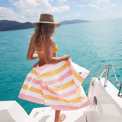 Pre-order Quick Dry Towel Summer Collection XL - Peach-Dock & Bay-Laguna-Lifestyle