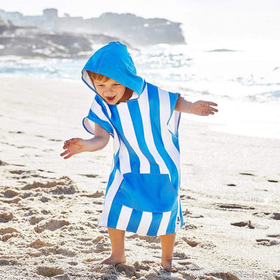 Kids Poncho Hooded Towel Mini Cabana Collection - Bondi Blue - Laguna Lifestyle