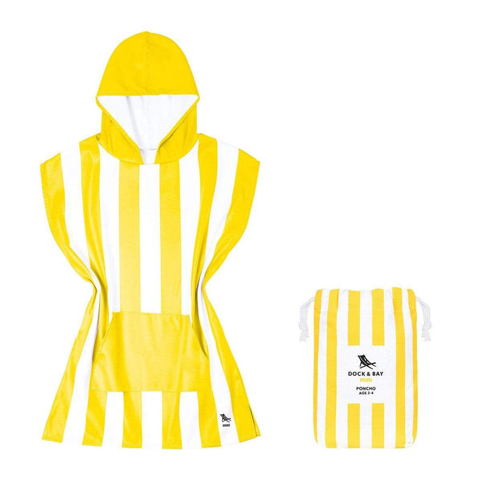Kids Poncho Hooded Towel Mini Cabana Collection - Boracay Yellow by Dock & Bay - Laguna Lifestyle