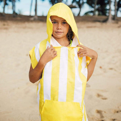 Kids Poncho Hooded Towel Mini Cabana Collection - Boracay Yellow - Laguna Lifestyle