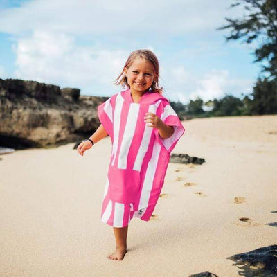 Kids Poncho Hooded Towel Mini Cabana Collection - Phi Phi Pink - Laguna Lifestyle