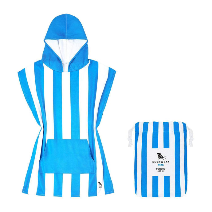 Kids Poncho Hooded Towel Mini Cabana Collection - Bondi Blue by Dock & Bay - Laguna Lifestyle