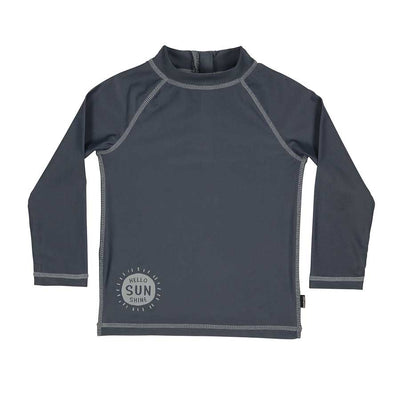 Kids Zip Up UPF50+ Rash Vest - Slate-Bedhead-Laguna-Lifestyle